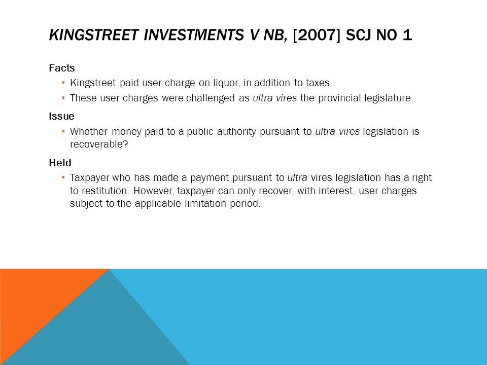 Kingstreet Investments v NB, [2007] SCJ No 1